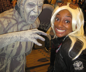 Me cosplaying as Storm, when this Weeping Angel creeped up on me!