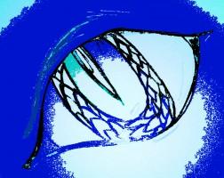 Sapphire blue monster eye.